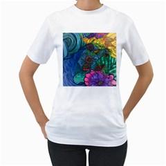 Beauty Blended Womens  T-shirt (White)