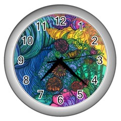 Beauty Blended Wall Clock (Silver)