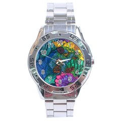 Beauty Blended Stainless Steel Watch (men s)
