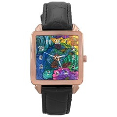 Beauty Blended Rose Gold Leather Watch