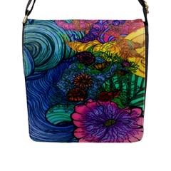 Beauty Blended Flap Closure Messenger Bag (large)