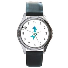 Ocean Round Metal Watch (silver Rim)