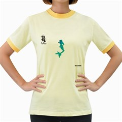 Ocean Womens  Ringer T-shirt (Colored)