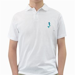 Ocean Mens  Polo Shirt (White)