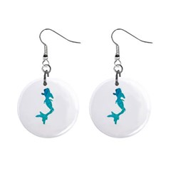 Ocean Mini Button Earrings