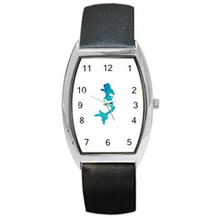 Ocean Tonneau Leather Watch