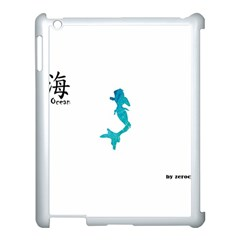 Ocean Apple Ipad 3/4 Case (white)