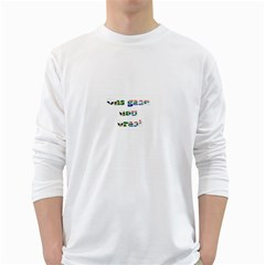 Gaan Nou Braai Mens' Long Sleeve T-shirt (White)