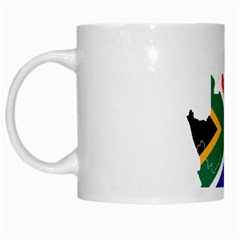 South Africa Flag Map White Coffee Mug