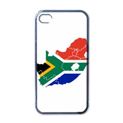 South Africa Flag Map Apple iPhone 4 Case (Black)