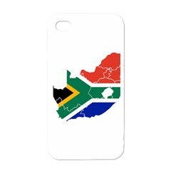 South Africa Flag Map Apple Iphone 4 Case (white)