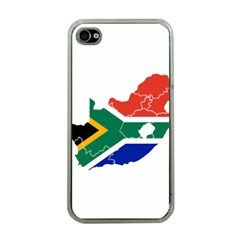 South Africa Flag Map Apple iPhone 4 Case (Clear)