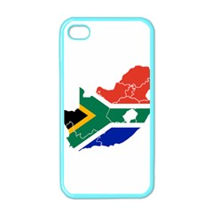South Africa Flag Map Apple iPhone 4 Case (Color)