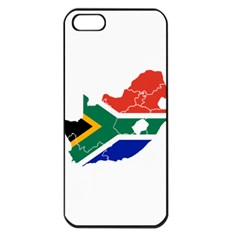 South Africa Flag Map Apple iPhone 5 Seamless Case (Black)