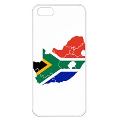 South Africa Flag Map Apple iPhone 5 Seamless Case (White)