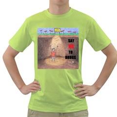 say no to drugs Mens  T-shirt (Green)