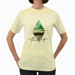 Inverted City  Womens  T Shirt (yellow)