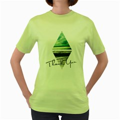 Inverted City Womens  T Shirt (green)