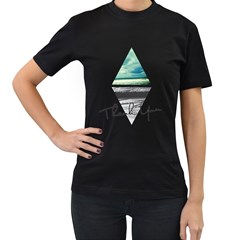 Inverted City Womens' Two Sided T-shirt (Black)