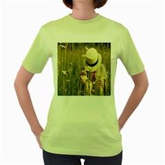 i miss summer Womens  T-shirt (Green)