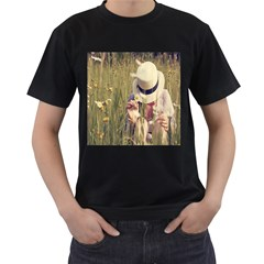 I Miss Summer Mens' Two Sided T Shirt (black)