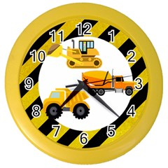 Construction Wall Clock (Color)