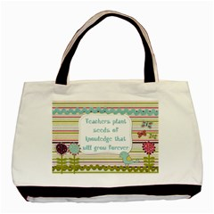 Teacher Twin-sided Black Tote Bag