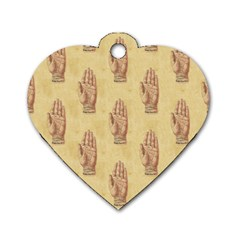 Palmistry Dog Tag Heart (One Sided)