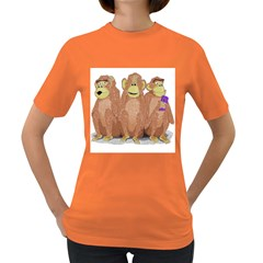Monkeys, As Usual  Womens' T Shirt (colored)