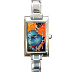528285 447835565285650 288605371 N Rectangular Italian Charm Watch