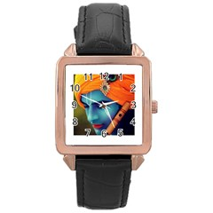 528285 447835565285650 288605371 N Rose Gold Leather Watch