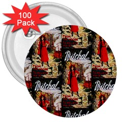 1912 Witchal Witch 3  Button (100 pack)
