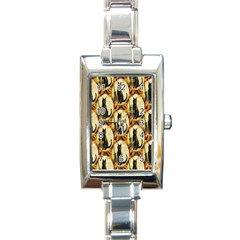 A Merry Hallowe en  Rectangular Italian Charm Watch