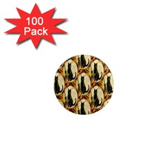 A Merry Hallowe en  1  Mini Button Magnet (100 pack)