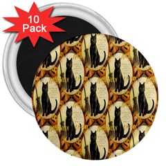 A Merry Hallowe en  3  Button Magnet (10 pack)