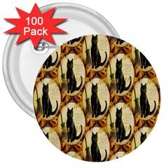 A Merry Hallowe en  3  Button (100 pack)