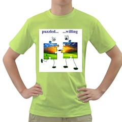 puzzle - couple Mens  T-shirt (Green)
