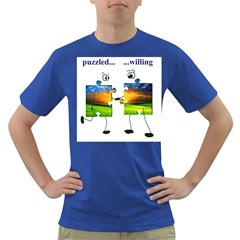 puzzle - couple Mens' T-shirt (Colored)