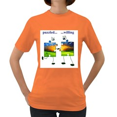puzzle - couple Womens' T-shirt (Colored)