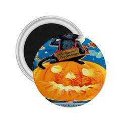 Hallowe en Precautions  2.25  Button Magnet