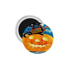 Hallowe en Precautions  1.75  Button Magnet