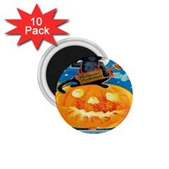 Hallowe en Precautions  1.75  Button Magnet (10 pack)