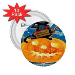Hallowe en Precautions  2.25  Button (10 pack)