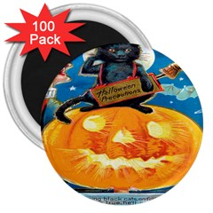 Hallowe en Precautions  3  Button Magnet (100 pack)
