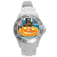 Hallowe en Precautions  Plastic Sport Watch (Large)