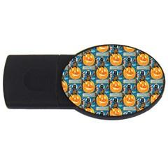Hallowe en Precautions  2GB USB Flash Drive (Oval)