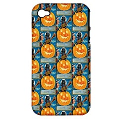 Hallowe en Precautions  Apple iPhone 4/4S Hardshell Case (PC+Silicone)
