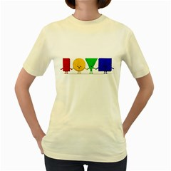 Love  Womens  T Shirt (yellow)