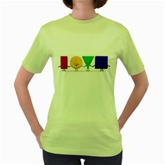 LOVE Womens  T-shirt (Green)