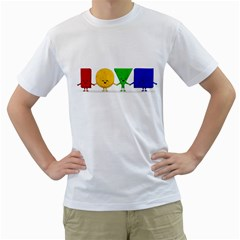 LOVE Mens  T-shirt (White)
